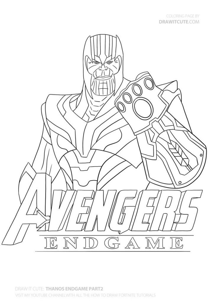 How to draw Thanos|Step-by-step guide with coloring page