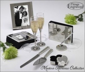 Modern Romance Wedding Collection http://www.thingsengraved.ca/products.php?s=x_%22modern+romance%22  #thingsengraved #thingsengravedgifts