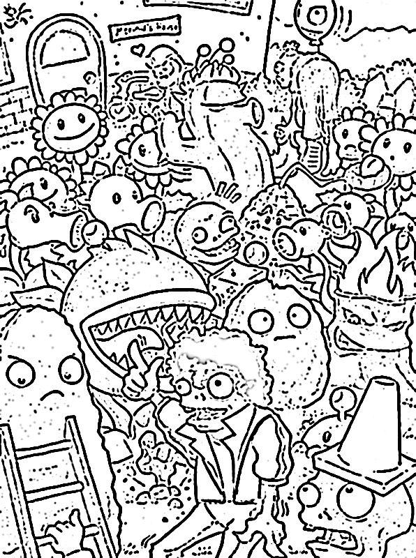 Plantas contra zombies hojas para colorear - Imagui | Dibujos para ...