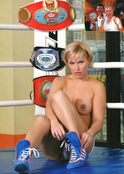 Наталья Рагозина, российская чемпионка мира по боксу и кикбоксингу, в журнале Penthouse