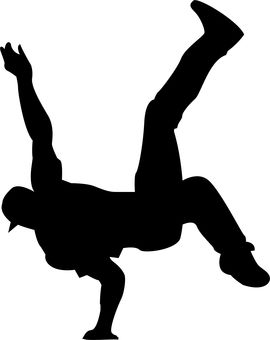 A cool vector image or a bboy doing an air chair