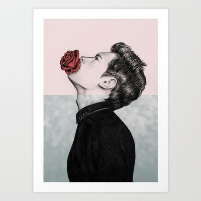 Mouth Flower Art Print by Sofia Azevedo - $18.00