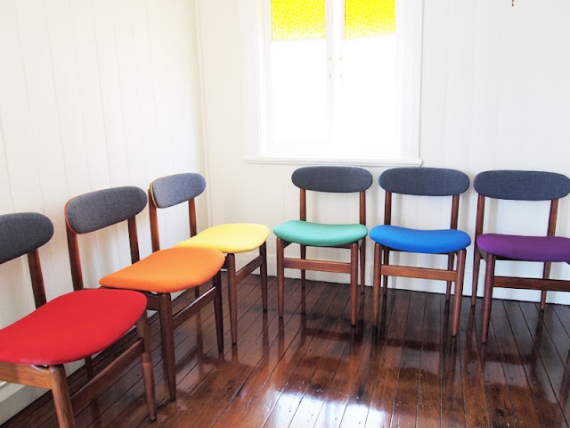 .Compliments Colors,  Boards, Rainbows Chairs, Dining Chairs, Chairs Price, Dining Table'S, Trendy Chairs, Mardi Gras, Chairs Creations