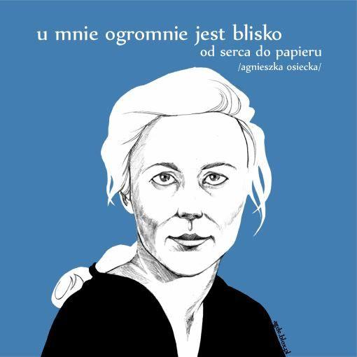 Agnieszka Osiecka, rys. piksele.