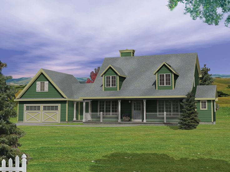 Dream Farmhouse Style TwoStory With Covered Front Porch