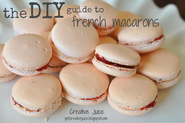 THE guide to making your OWN macarons!  promise you can do it! simple steps to make it easy on you!: Cookies, Recipe, Crush, Sweet Tooth, Diy Guide, French Macarons, Creative Juice