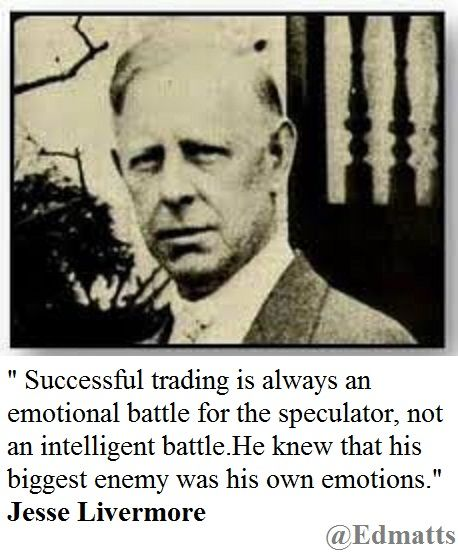 Another quote from the best trader ever, Jesse Livermore.