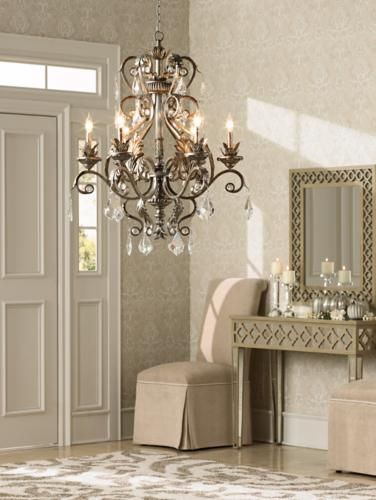 The traditional glam look is perfect for foyer decorating.
