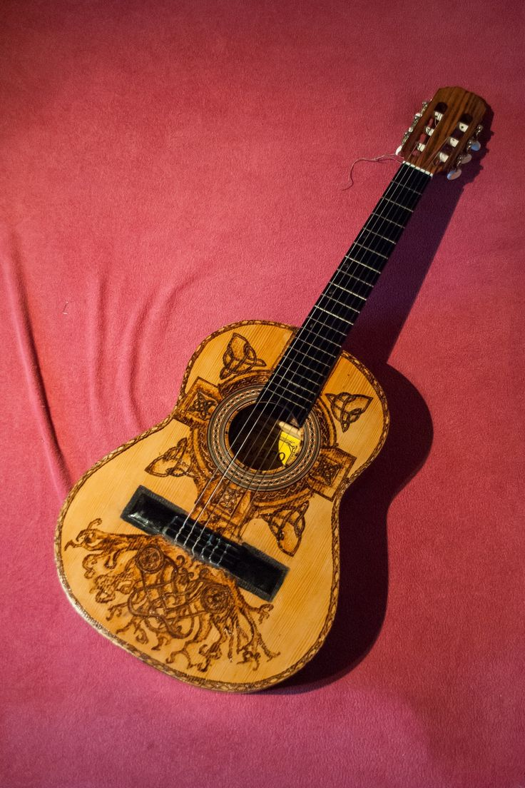 Alvaro Celtic Cross guitar made by Psujek Arts