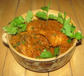 Traditional Mughlai chicken preparation with yoghurt and spices