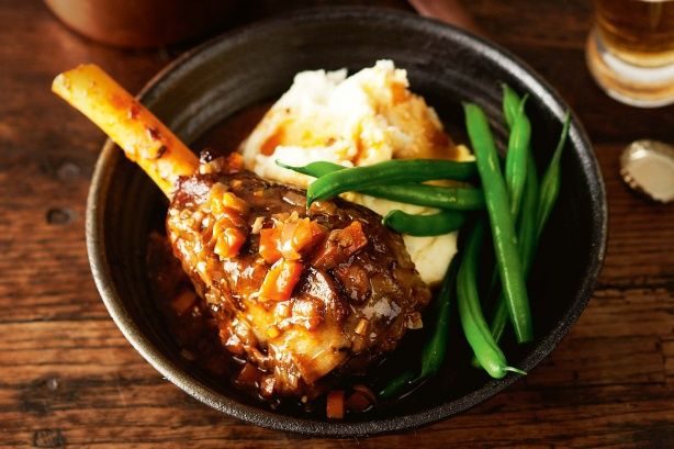 Slow-cooker Guinness lamb shanks #RealStock #Recipes #MadefromScratch