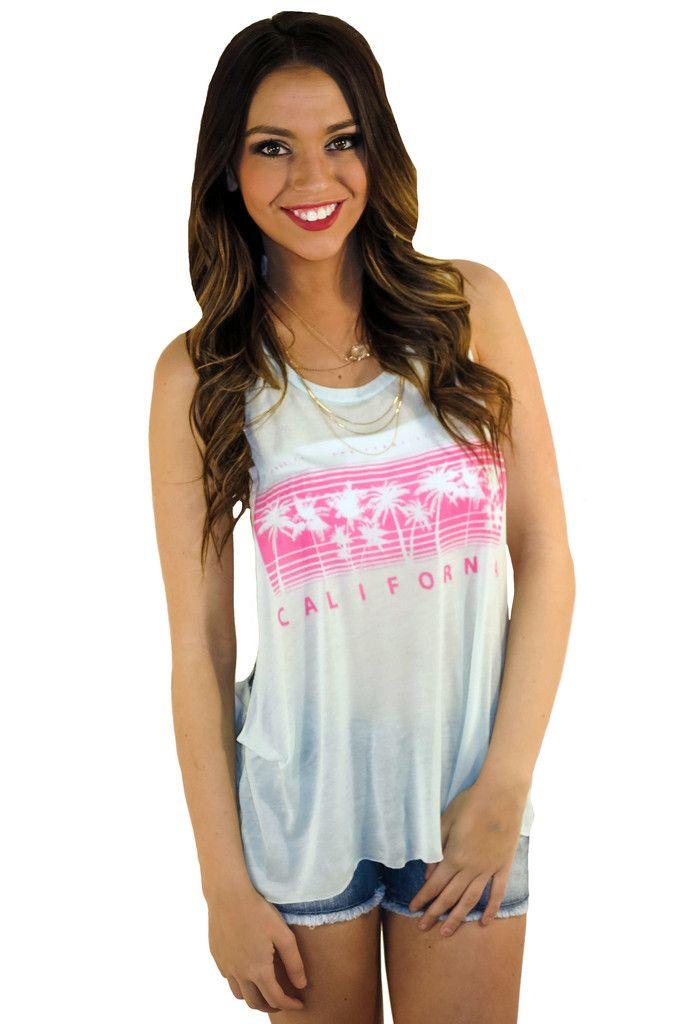 california girl graphic tank #blue #graphic #graphic-tank #hotpink #large #medium #mint #muscletank #pink #retro #sheer #shirt #small #summer #tank #tanktop #top #turquoise