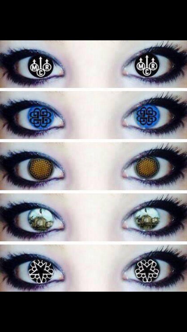 My Chemical Romance, Breaking Benjamin, Bring Me the Horizon, Pierce the Veil, and Black Veil Brides Eyes