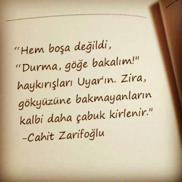 Cahit Zarifoğlu demiş
