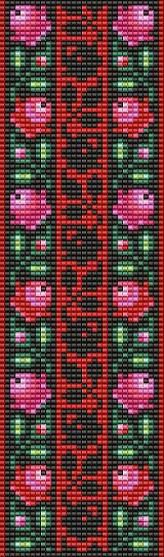 Bead Loom Floral Rose Borders Stripes Design by MyTreasureIsland, $5.99