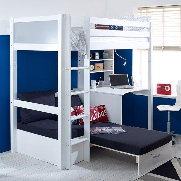 Flexa Nordic Kids High Sleeper 3 In White High Sleeper Bed Bunk