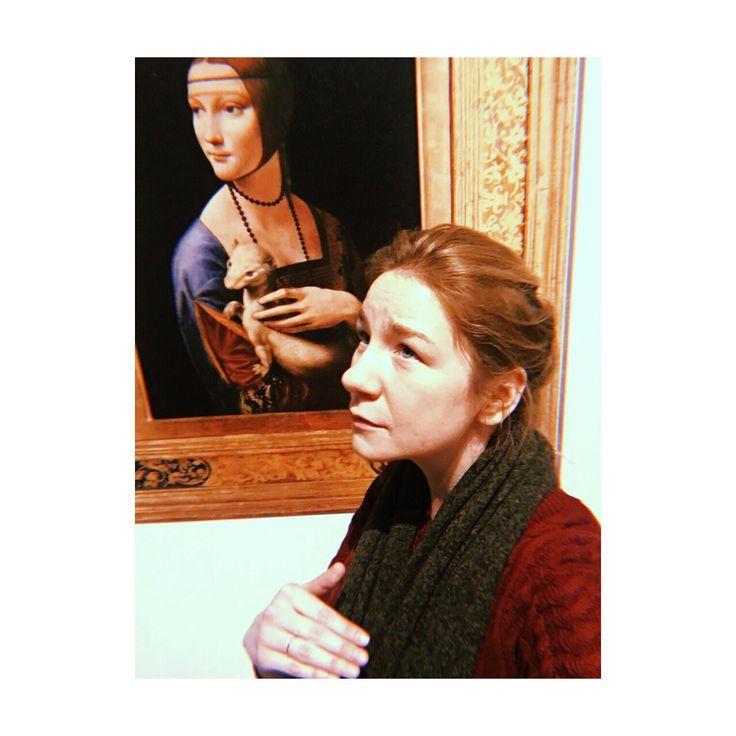"""Instagram post by katarzyna (@kasmirowo) na Instagramie: """"Leonardo. kiedy chcesz być damą, a bliżej Ci do łasicy…"""""""