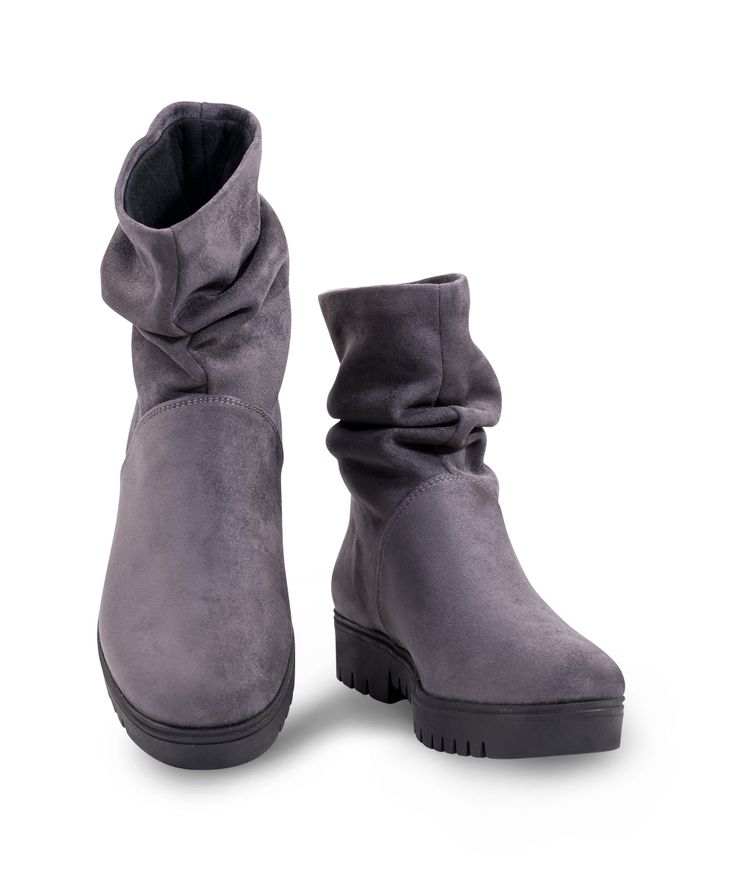 CARAD flat bootie for comfy walkings... Grey
