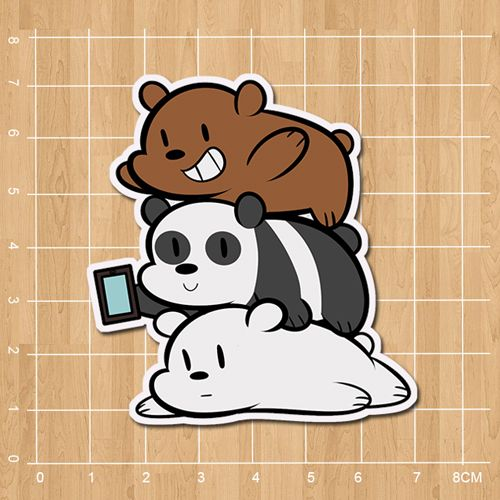 We Bare Bears Grizzly & Panda & Ice Bear Notebook/refrigerator/skateboard/trolley case/backpack/book sticker PVC sticker-in Stickers from Toys & Hobbies on Aliexpress.com | Alibaba Group
