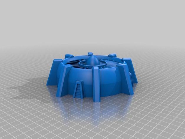 Warhammer 40k terrain / ventilation / cooling system by