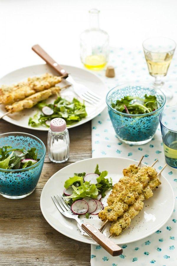 Spiedini di mazzancolle al forno - Delicious roasted Shrimp Skewers
