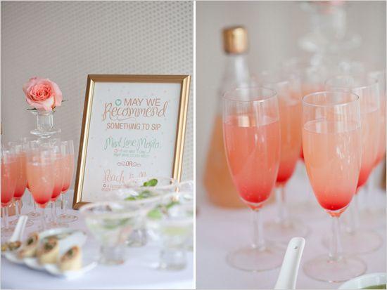 romantic mint peach and gold wedding ideas receptions
