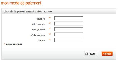 Facture : prélèvement automatique sur compte bancaire en France - Assistance Orange