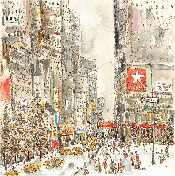 New York Taxi Street City Canvas Wall Art Picture Print Va: NEW YORK Art, Macys Shopping, West 34th Street, NYC