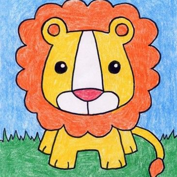 From art projects for kids · draw a baby lion