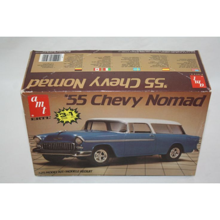 Amt Ertl 55 Chevy Nomad 3 In 1 Car 1 25 Scale Plastic Model Kit