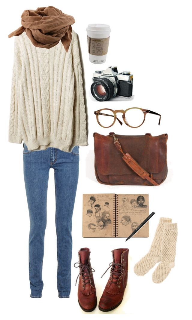 New York Trip by the59thstreetbridge on Polyvore featuring polyvore, fashion, style, Acne Studios, People Tree, Oliver Peoples, Faber-Castell, Justin Boots and Bruuns Bazaar