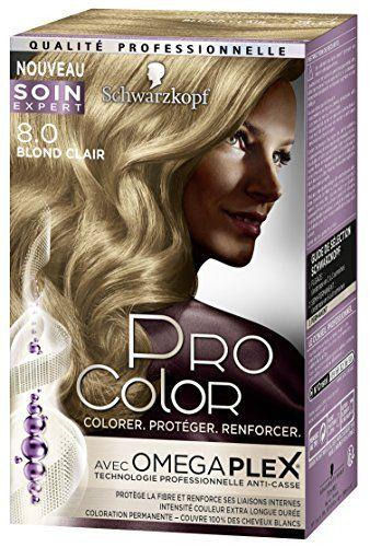 Pro Color Schwarzkopf Coloration Permanente Blond Clair 8.0 #Color #Schwarzkopf #Coloration #Permanente #Blond #Clair