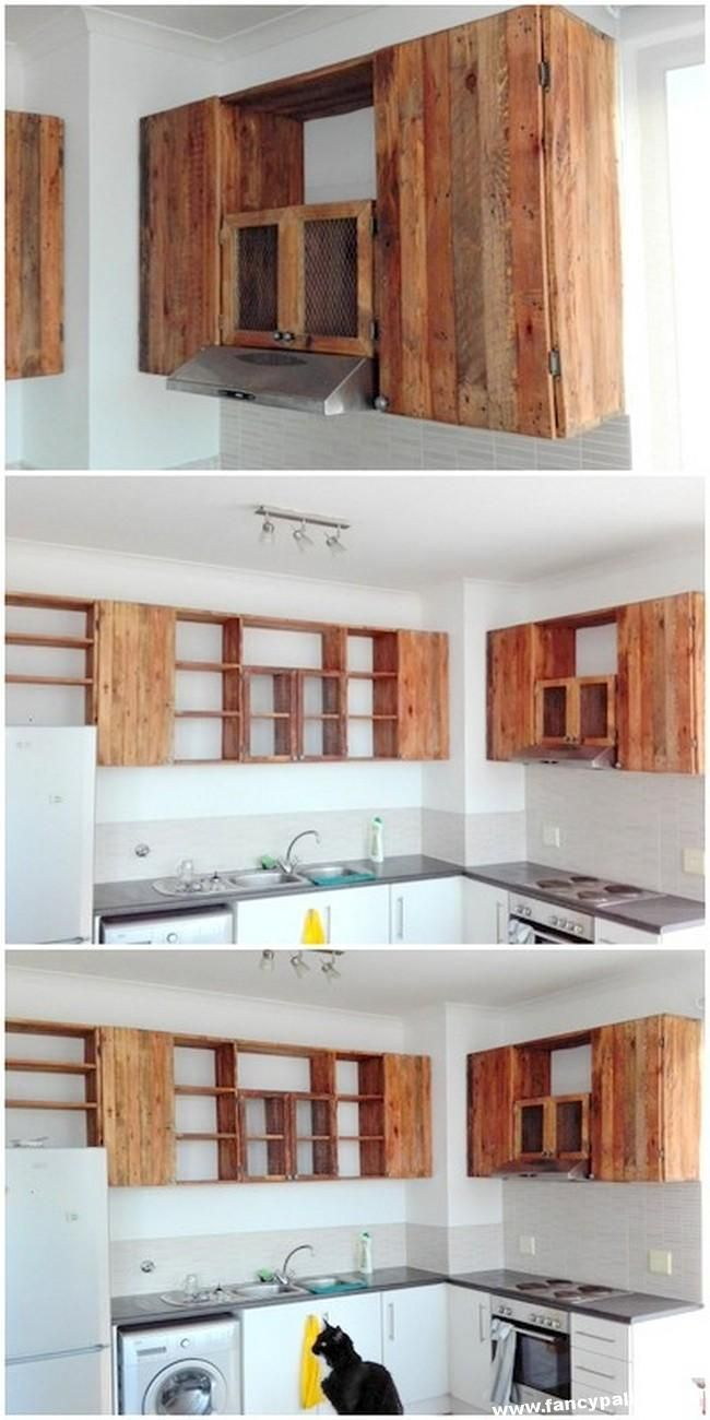 Wood For Pallets Woodworking With Pallets How To Use Pallets For Furniture Pallet Kitchen Cabinets Pallet Kitchen Cheap Kitchen Cabinets
