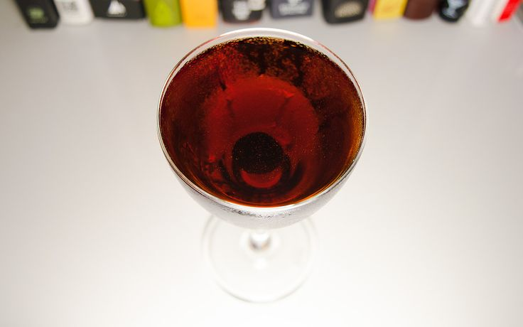 "drinkshouts: "" October 2 - Sweet Kiss in the Dark … This is a variation of a cocktail I found over at CocktailDB. That one calls for dry vermouth, but I went with sweet instead, thus the name..."