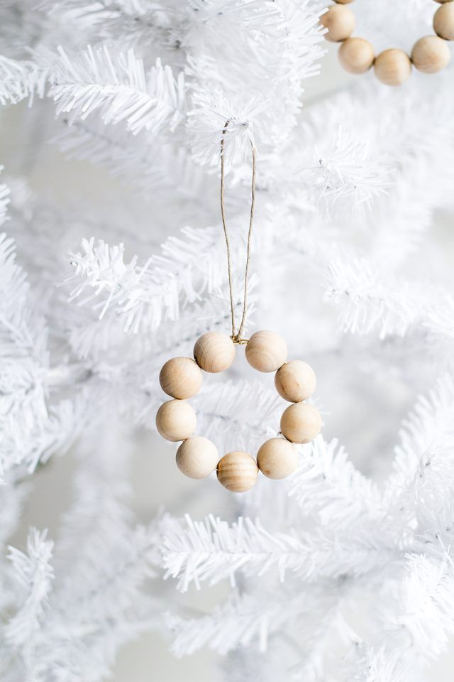 How to Make a Christmas Wreath Ornament from Wooden Beads | eHow