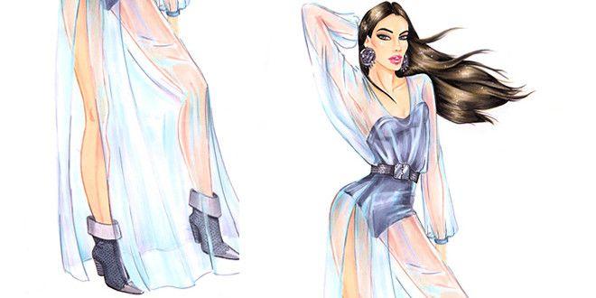 How To Draw Chiffon Fashion Design Sketches Dress Design Drawing Fashion Model Sketch