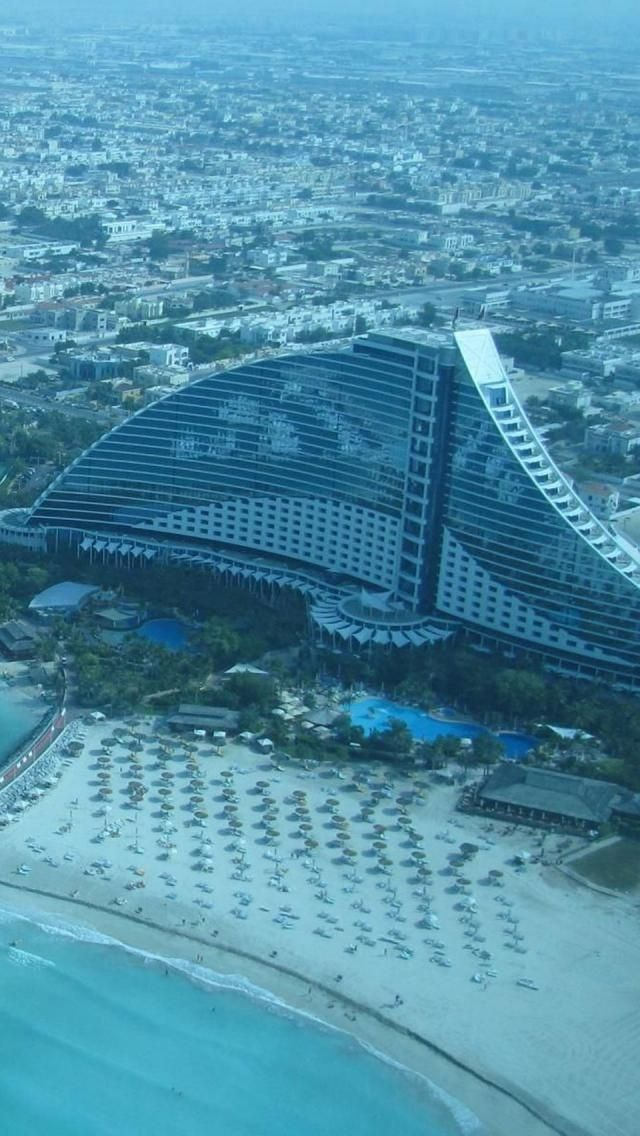 Jumeirah Beach Hotel is a hotel in Dubai, United Arab Emirates.