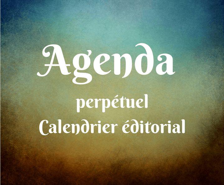 Agenda perpétuel et calendrier éditorial pour la planification et la gestion stratégique de vos contenus sur les médias sociaux. Découvrez-le dès maintenant en cliquant ici
