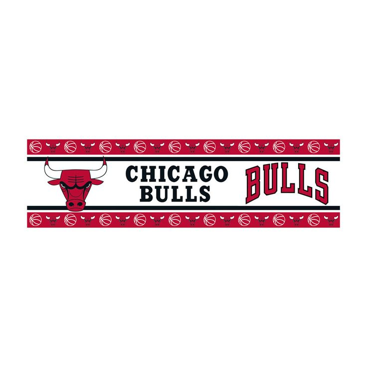 Chicago Bulls Team Spirit Wall Border Decal