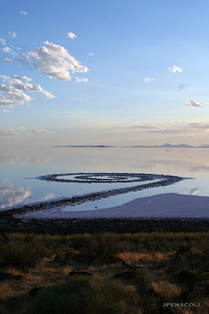 Spiral Jetty in the Great Salt Lake.  I've been here!!
