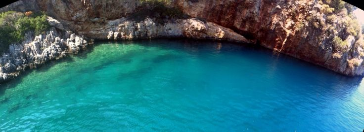 The cove is named as Lacivert because of its deep blue color.