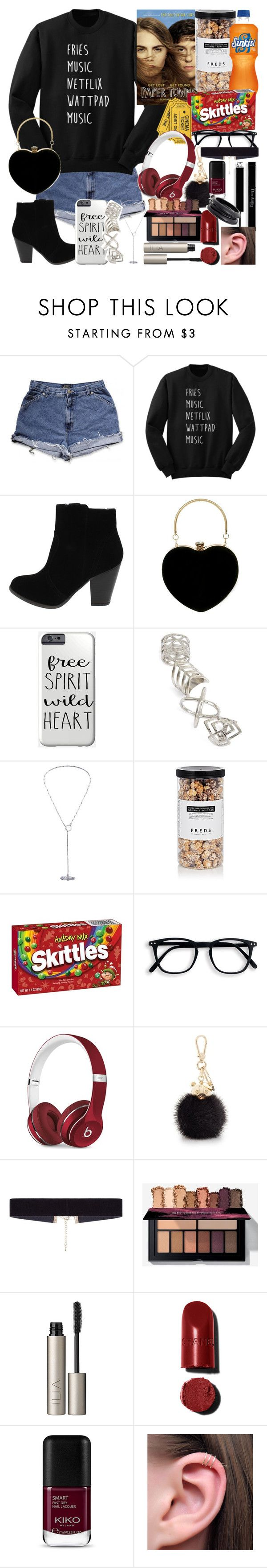 """MOVIE NIGHT 2 🎥🎬🍿"" by freespirit-087 ❤ liked on Polyvore featuring Topshop, FREDS at Barneys New York, Beats by Dr. Dre, Furla, 8 Other Reasons, Ilia and ZENZii"