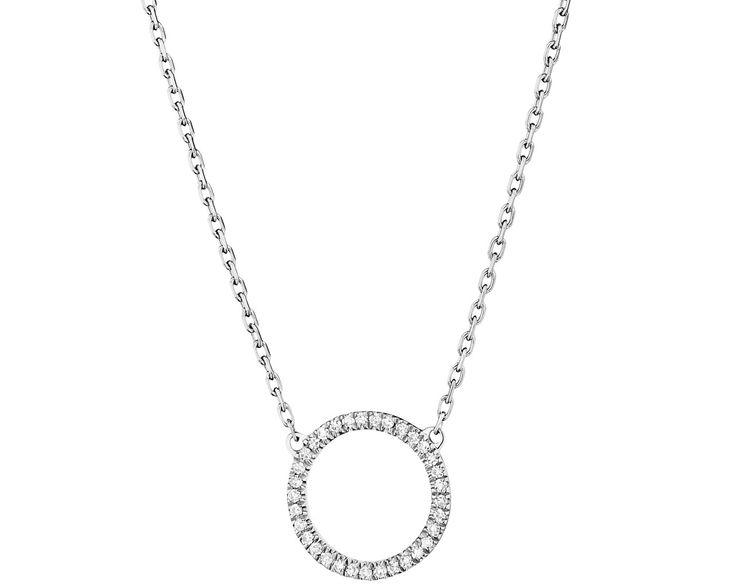 Naszyjnik z białego złota z diamentami - wzór 157.114 / Apart