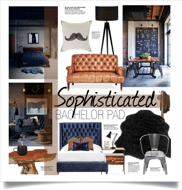"""Sophisticated Bachelor Pad"" by molli9109 on Polyvore"