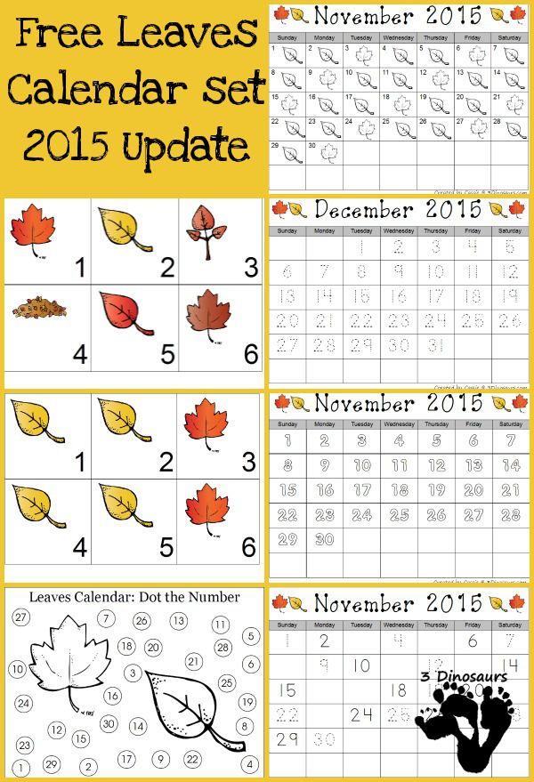 November Kindergarten Calendar : Best fall leaves images on pinterest toddler crafts