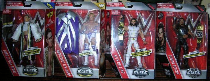 (4) 2016 WWE Elite Series 45 ROMAN REIGNS SETH ROLLINS LEX LUGER LORD REGAL MIB - http://bestsellerlist.co.uk/4-2016-wwe-elite-series-45-roman-reigns-seth-rollins-lex-luger-lord-regal-mib/