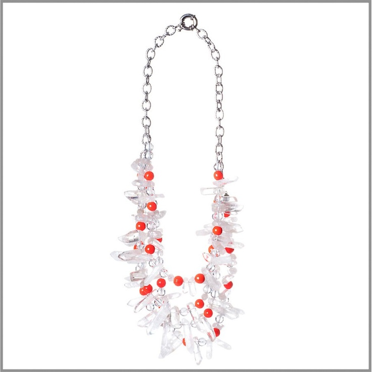 4-Strand Crystal Spikes Necklace by Amanda Pearl