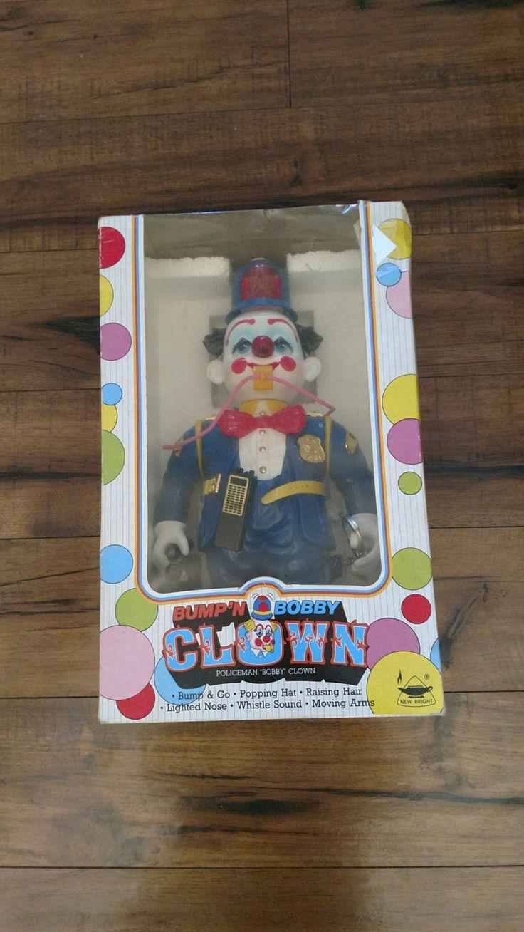 Vintage Bump n Bobby Clown//Vintage Robot Clown//Vintage rolling toy//Gift for kids//Gift for toy collections by FoothillKnicKnacks on Etsy