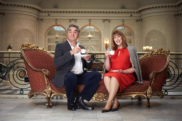 Jim Carter and Phyllis Logan, aka Downton Abbey's Mr Carson and Mrs Hughes, join Radio Times in London for a catch up and a cuppa