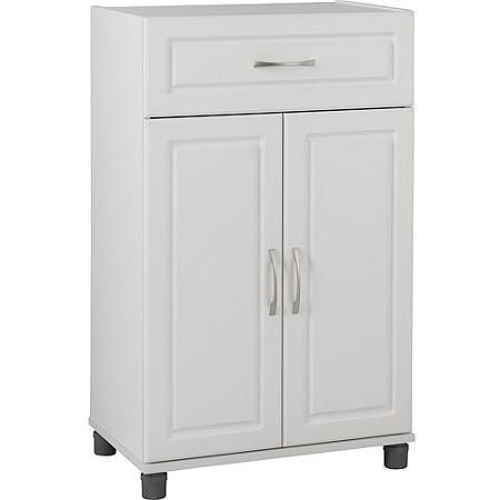 Base Storage Cabinet SystemBuild 1 Drawer 2 Door White - Dressers & Chests of Drawers